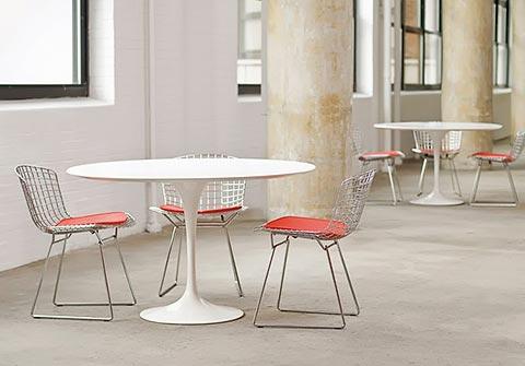 Bertoia Wire Chair mit Tulip Tisch
