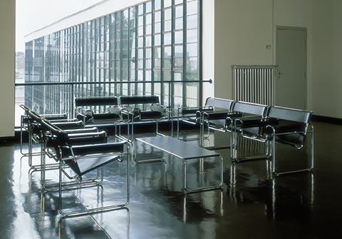 Laccio Tisch imit Wassily Sesseln