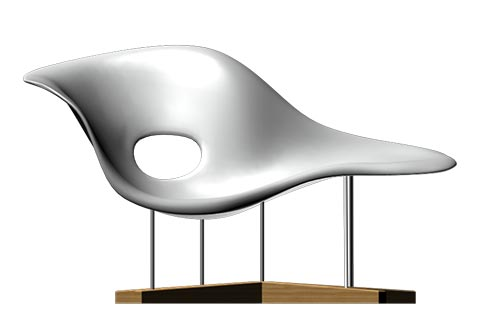 lounge chair la chaise modern design classic by charles eames. Black Bedroom Furniture Sets. Home Design Ideas
