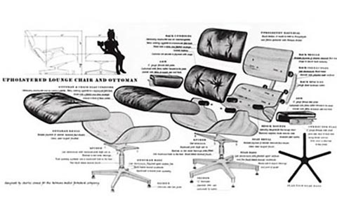 Eames Lounge Chair Aufbau