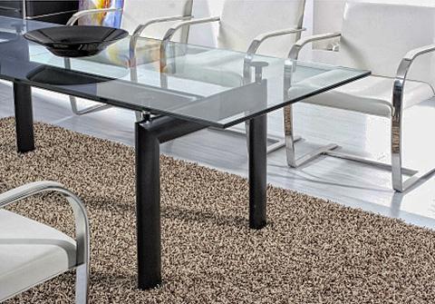 Corbusier LC6 Tisch mit Brno Stühlen