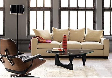 noguchi coffee tisch mit eames chair noguchi coffee table