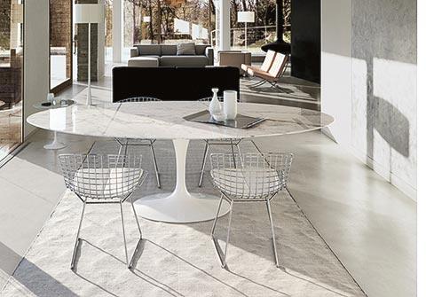 Tulip Oval Table mit Bertoia
